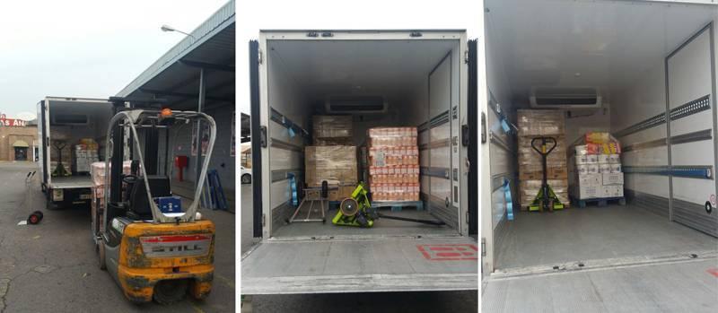 Los 9 palets de alimentos que la Fundación DAF y Makro donaron