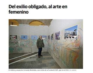 "The newspaper EL COMERCIO: exhibition ""PUSHED INTO EXILE"" in the CCAI"