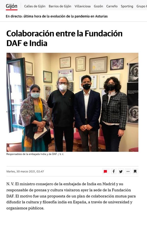 El Comercio - noticia visita miembros embjada a DAF