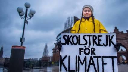Greta Thunberg en el palamento