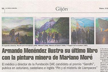 """La Nueva España, artículo sobre """"PIN Y EL MISTERIO DE LLAMPACES"""""""