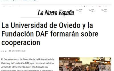 LA NUEVA ESPAÑA: DAF AND UNIOVI, COOPERATION SEMINARS