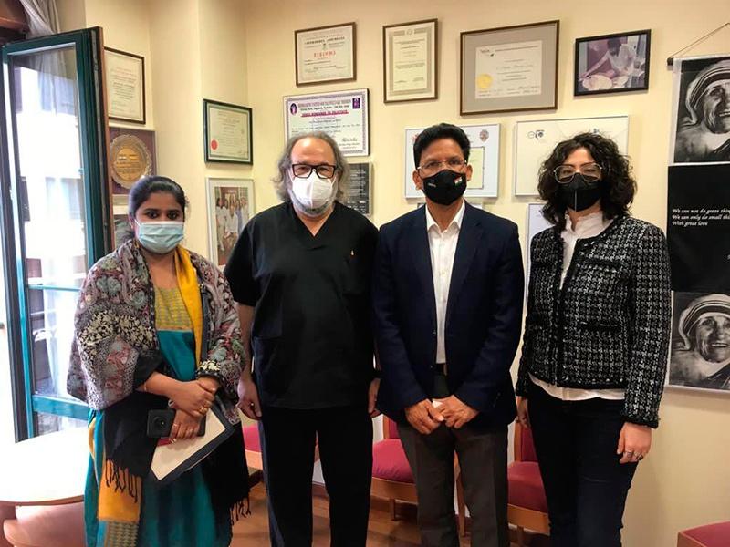 Ministro Consejero embajada de laIndia visita Sede DAF