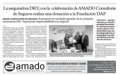 DKV makes a donation to the foundation DAF