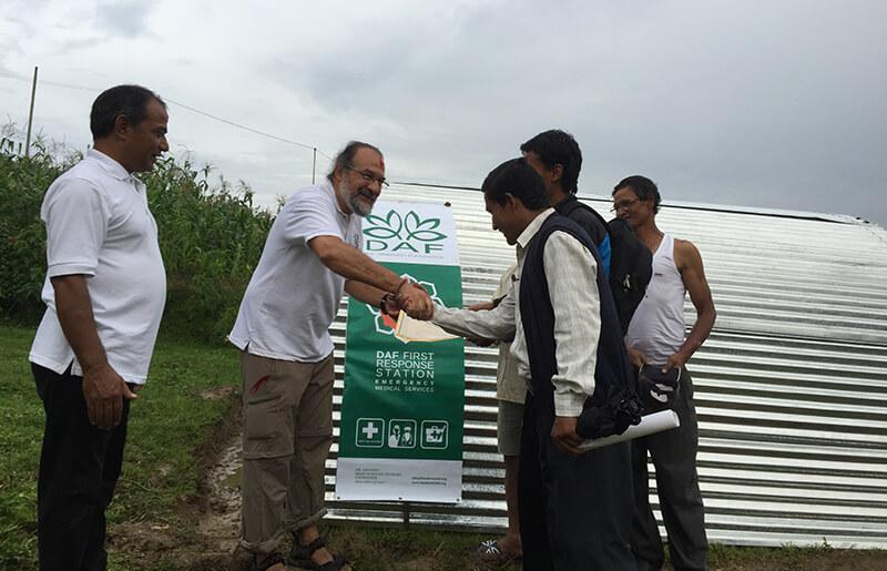 Viviendas Refugio en Nepal subvencionadas por DAF