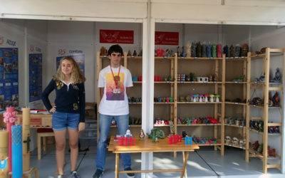 Visita al Stand del Albergue Covadonga en la Feria de Muestras de Asturias de 2017.