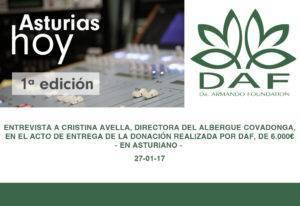 Entrevista donación Albergue Covadonga-Asturiano