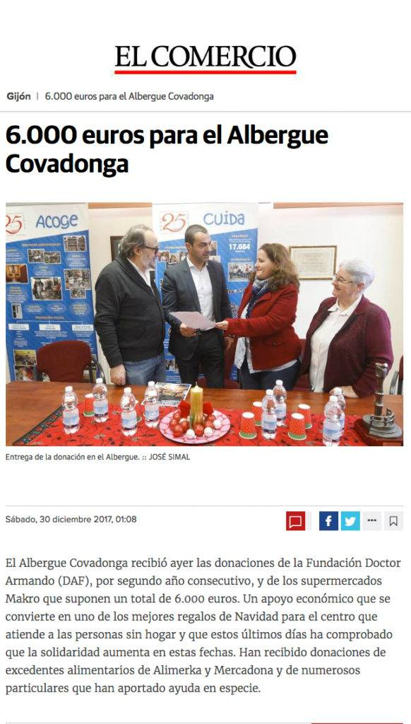 6.000 euros para el Albergue Covadonga-ElComercio