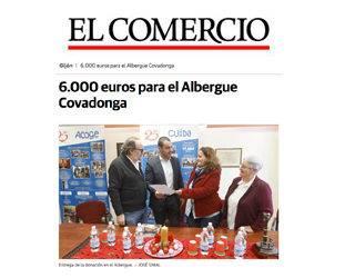 6.000 euros para el Albergue Covadonga – ElComercio