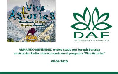 Armando Menéndez en «VIVE ASTURIAS»