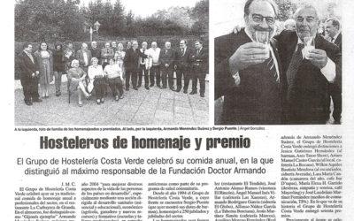 Armando Menéndez premiado por el grupo Costa Verde